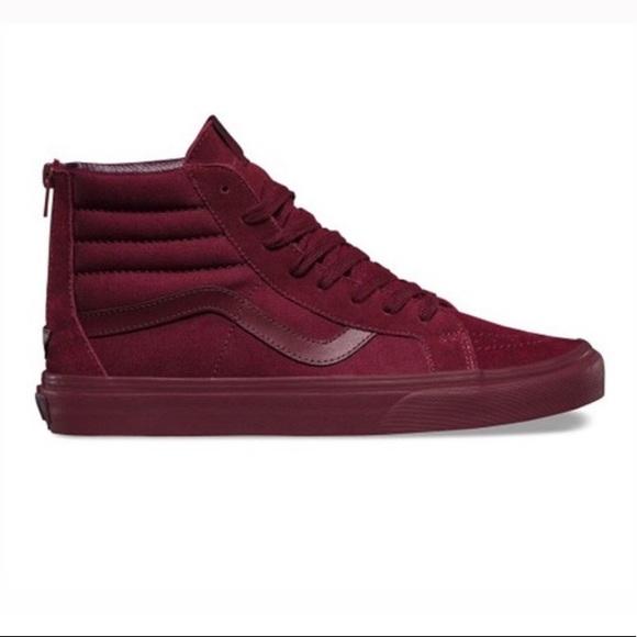 Vans Shoes   Womens All Burgundy Vans